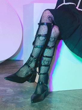 heart pattern stockings
