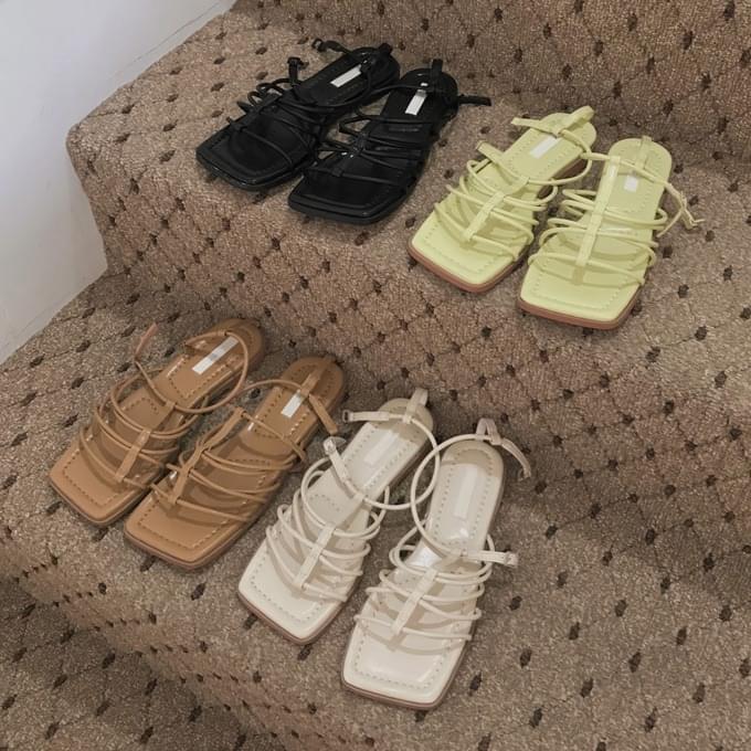 Sonata Square Strap Sandals