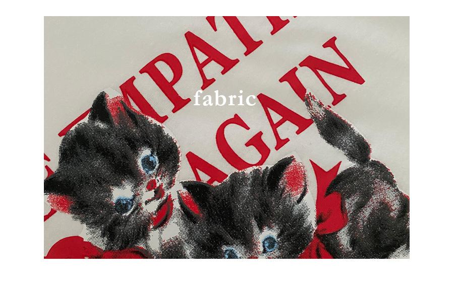 Kitten lettering cropped short-sleeved T-shirt