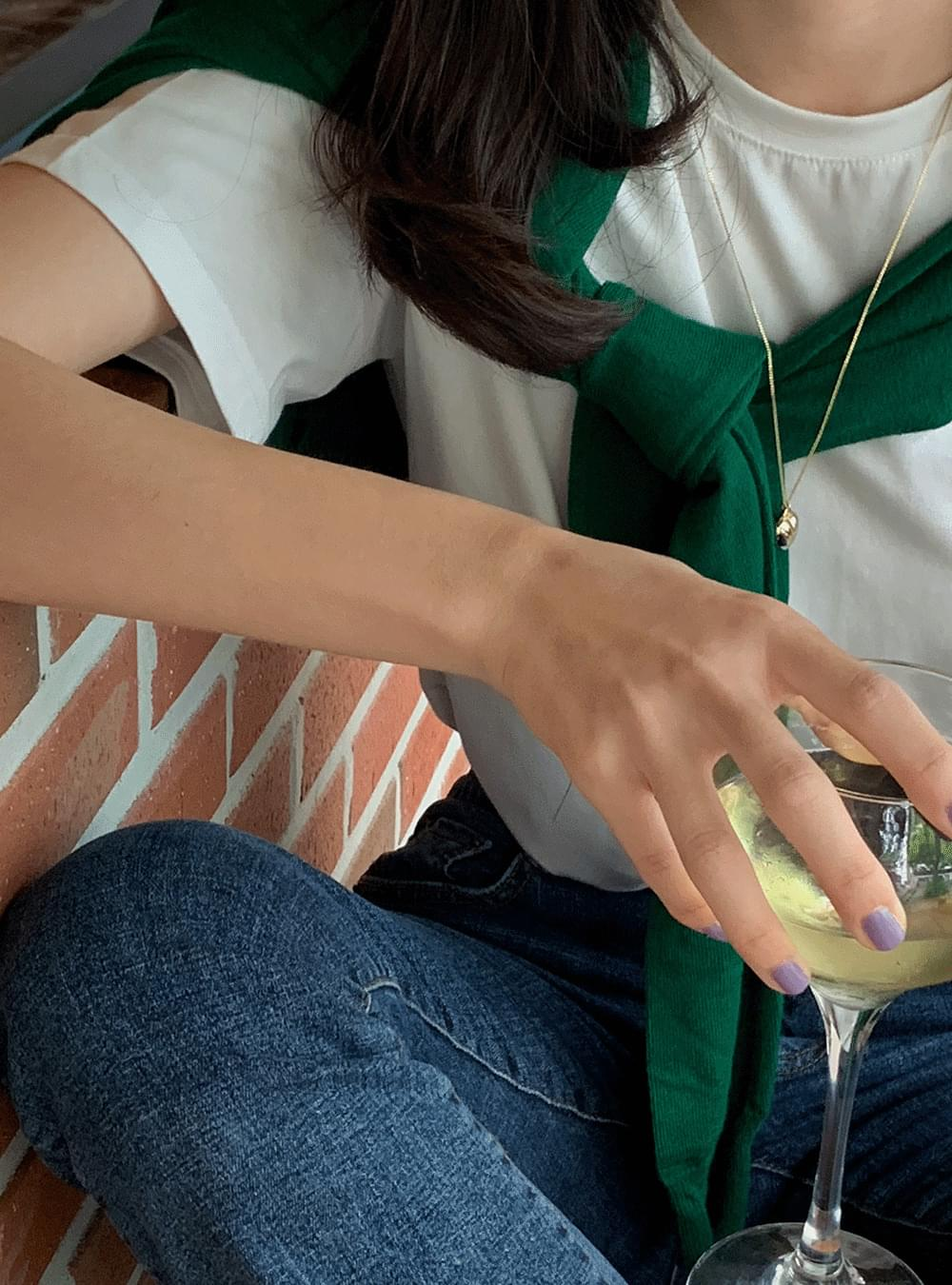 Mercerise Cotton Spandex Short Sleeve Tee -10 color
