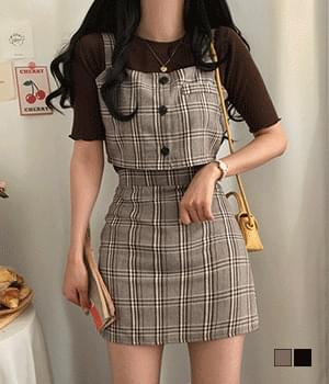 Caton Check Bustier Two-Piece Setup