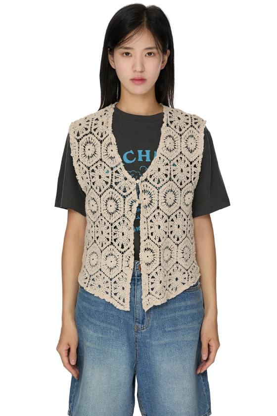Hopper Vintage Crochet Vest 針織外套