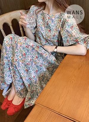 op5635 Lara Flower Long Dress