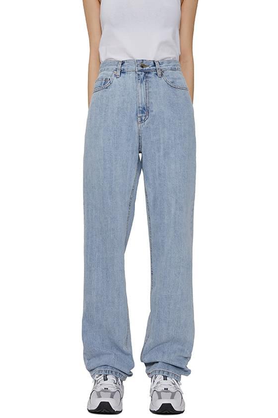Slub Faded straight jeans