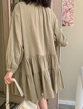 Natural Wrinkle Cancan Dress