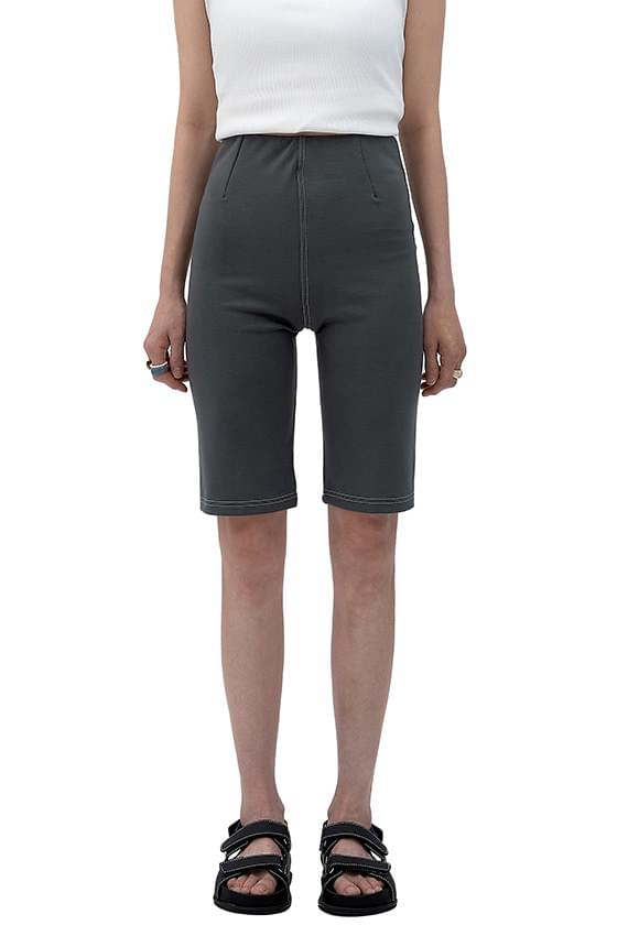 Stitched Biker Half Shorts 短褲