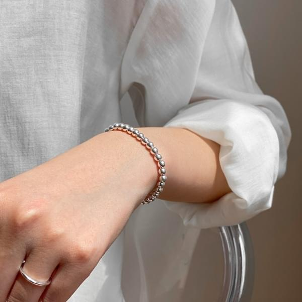 Silver 925 Simple Silver Ball Bracelet