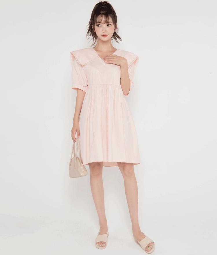 Sailor Collar Babydoll Dress