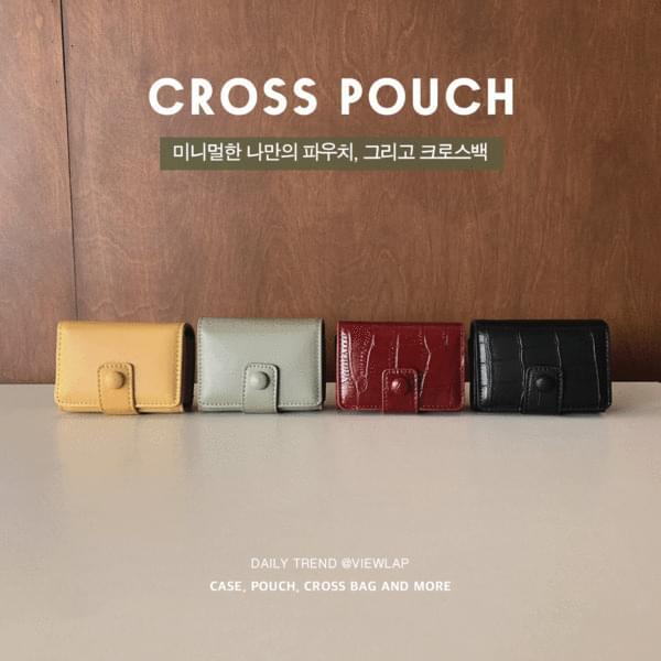 Compact Pouch Cross Bag Lipstick Case 4color