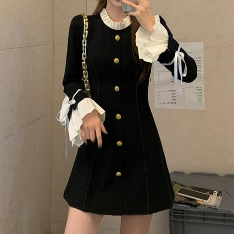 Merel frill point size loose line Dress