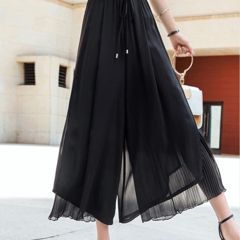 A-line Chiffon Wide Long Skirt Pants