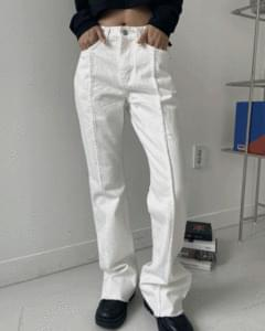 Western Cotton pin tuck Flared pants