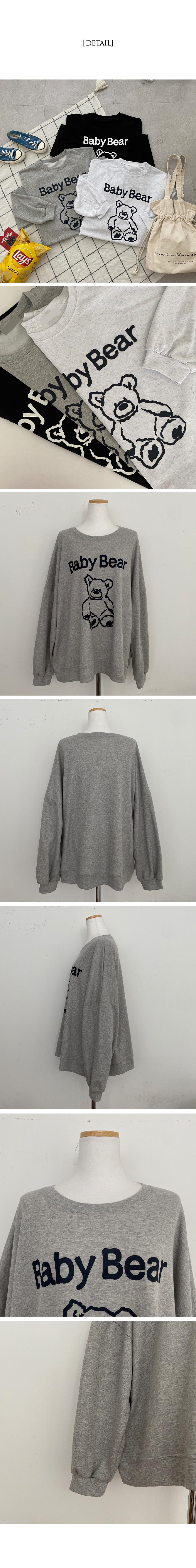 ベビーベアアバンピットスウェットシャツTシャツ