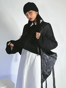 Loose-fit Rosy Crop Knitwear