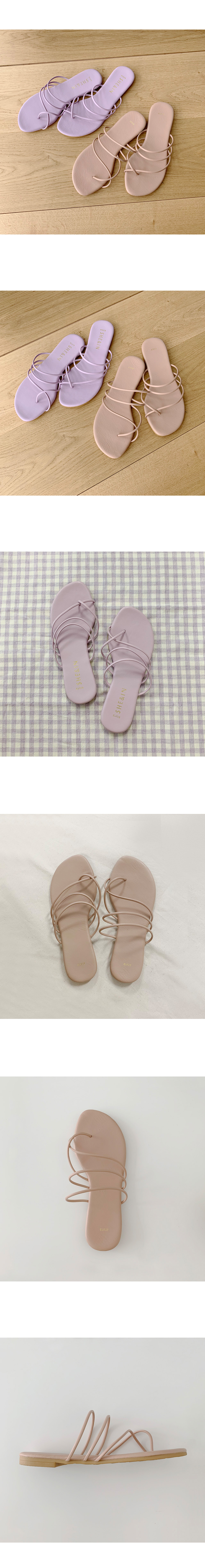 Two-way strap flat-leg sandals slippers