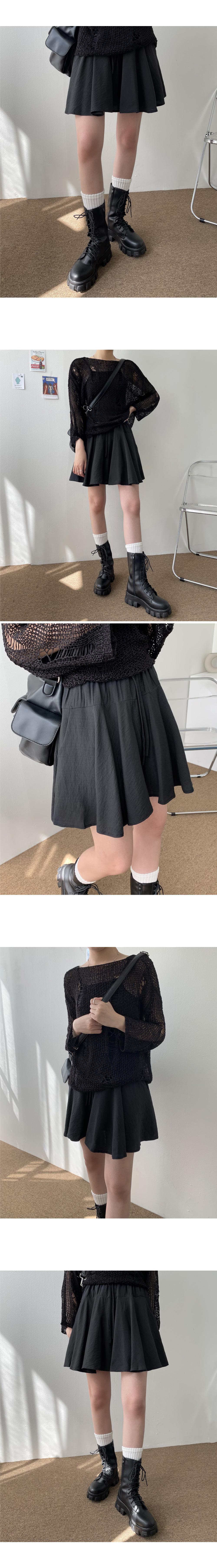 Smog basic flared skirt