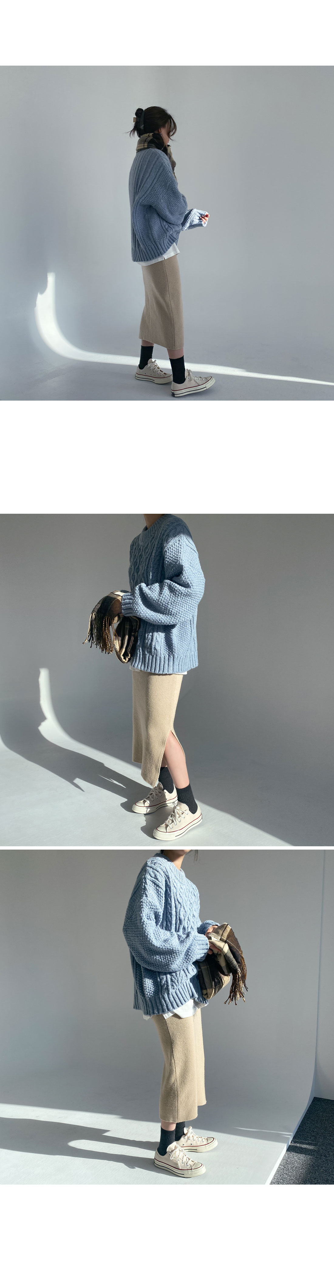 Ribbed Soft Wool Color Socks