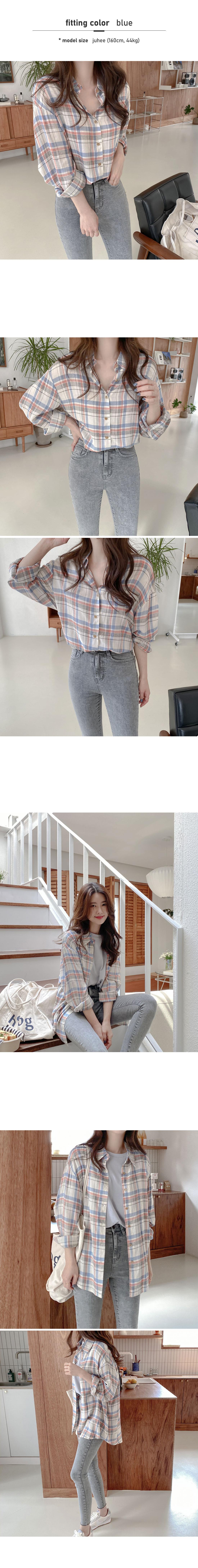 Crayon Yeori Loose-fit Check Shirt