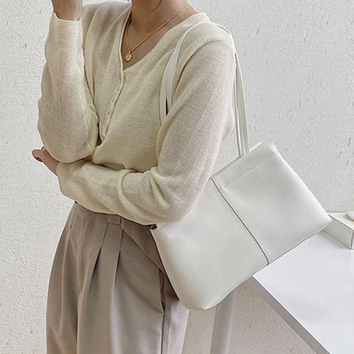 About Leather Line Simple Baguette Square Shoulder Bag B#YW111