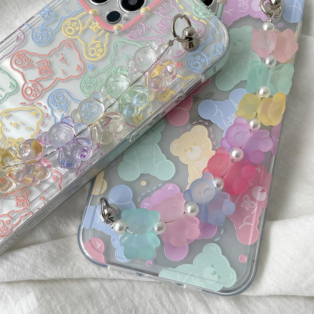 Chewing Haribo Strap Bear Bear Pattern iPhone Case