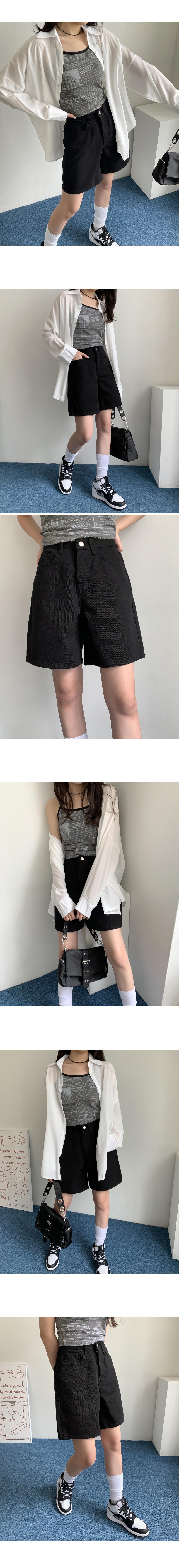 Cereal Basic Cotton Wide Short Pants