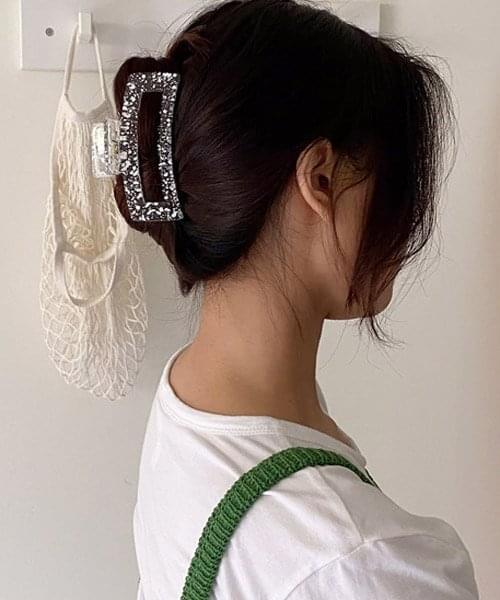 clear paint hair pin 配飾
