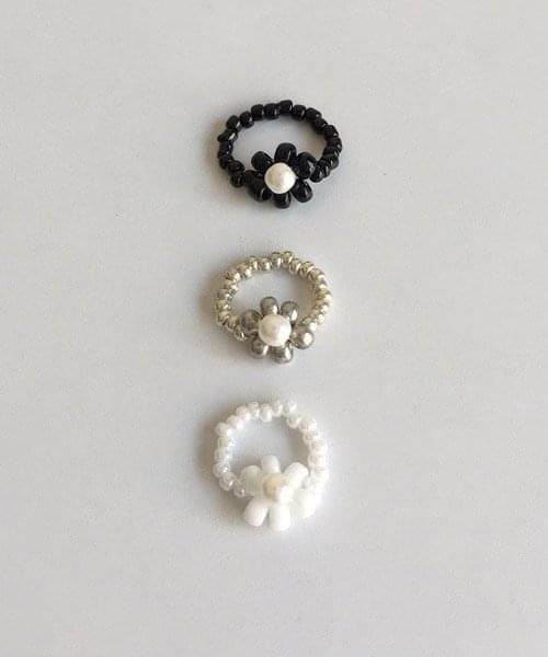 flower beads ring リング