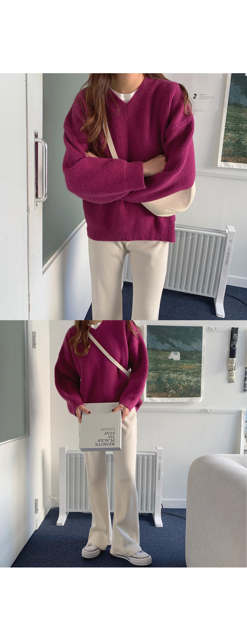긴팔 티셔츠 모델 착용 이미지-S1L35