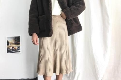 Flared abel knitted skirt