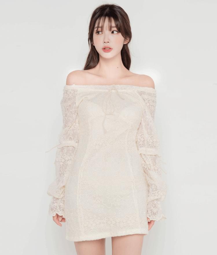 Two-Way Neck Lace Dress