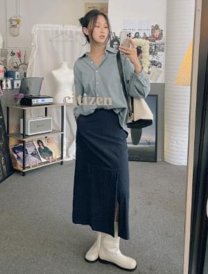 Hooney side slit skirt