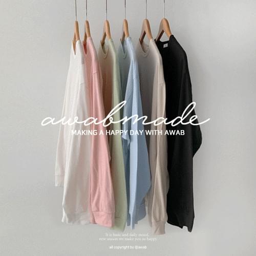 #AWABMADE: _ yeori Sweatshirt loose tea box