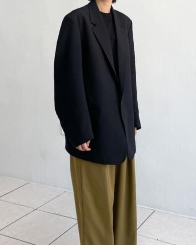 Dakan overfit one-button jacket