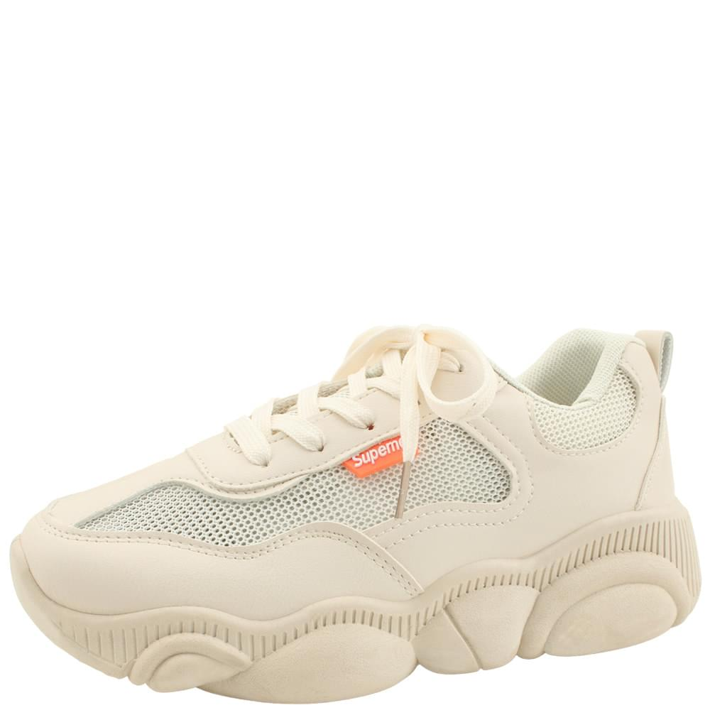 mesh sneakers Ugly shoes beige