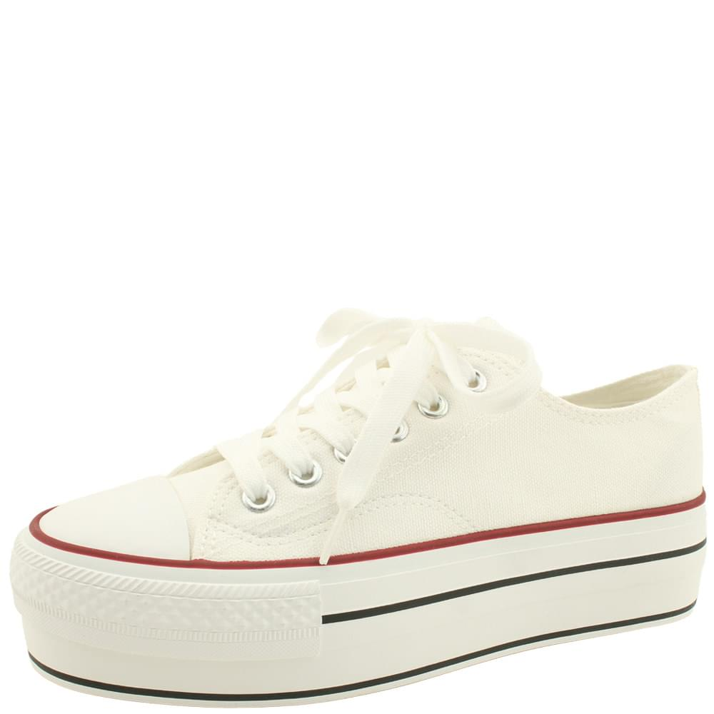 Whole heel canvas shoes simple sneakers white