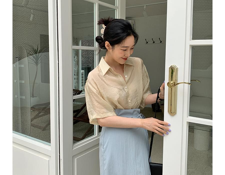 Glossy Cooling Short Sleeve Shirt