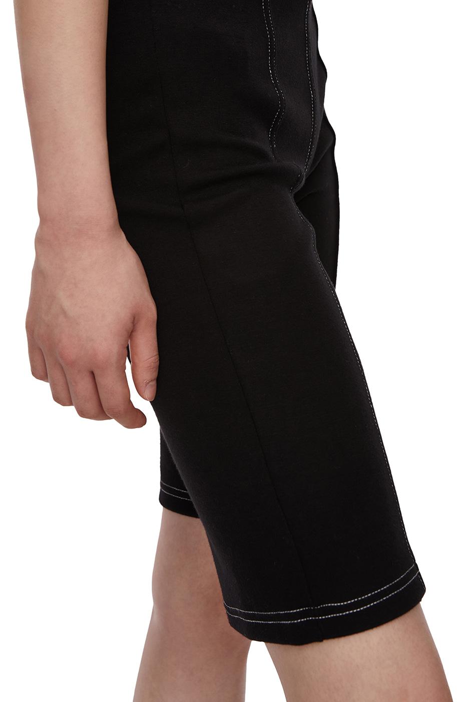 Stitched Biker Half Shorts