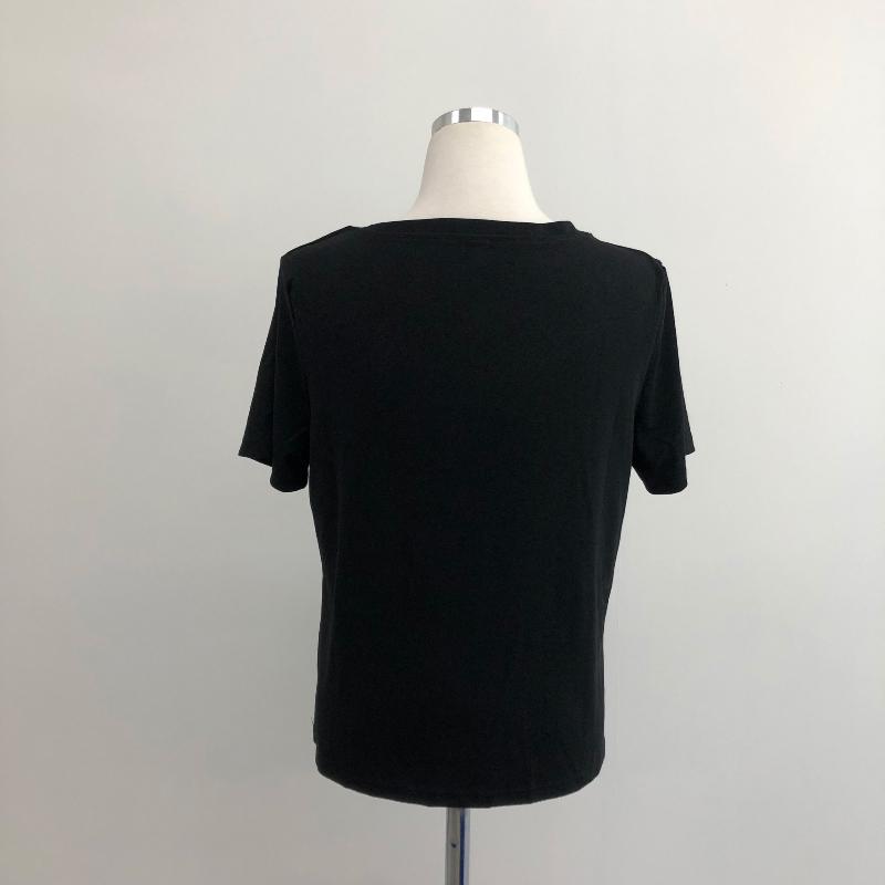 tt4898 Kuise Square V-Neck Short Sleeve T-shirt