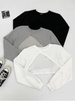 Tulip Bolero Crop Sweatshirt