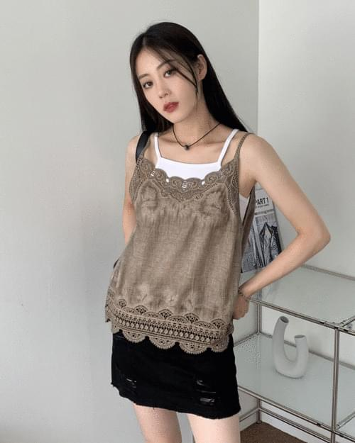 Esther Flower Lace Sleeveless