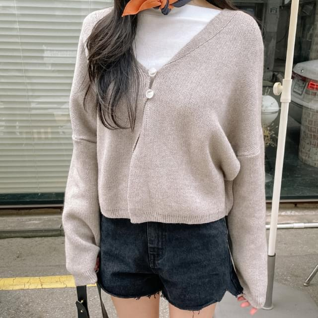 Biscuit two-button cardigan 針織外套