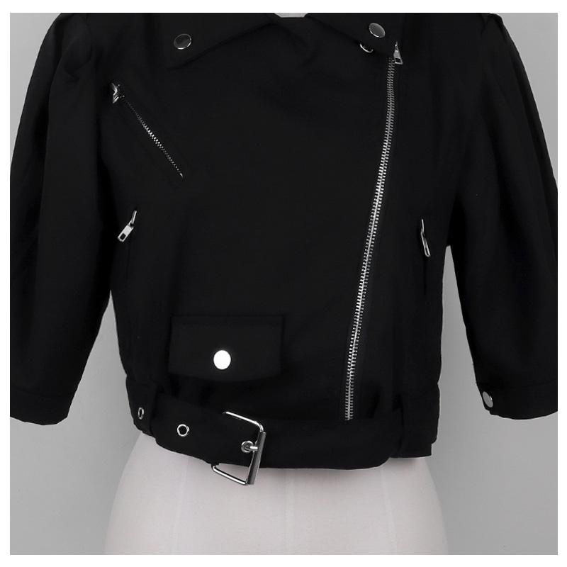 Hello Shoulder Padded Linen Crop Field Jacket Jacket