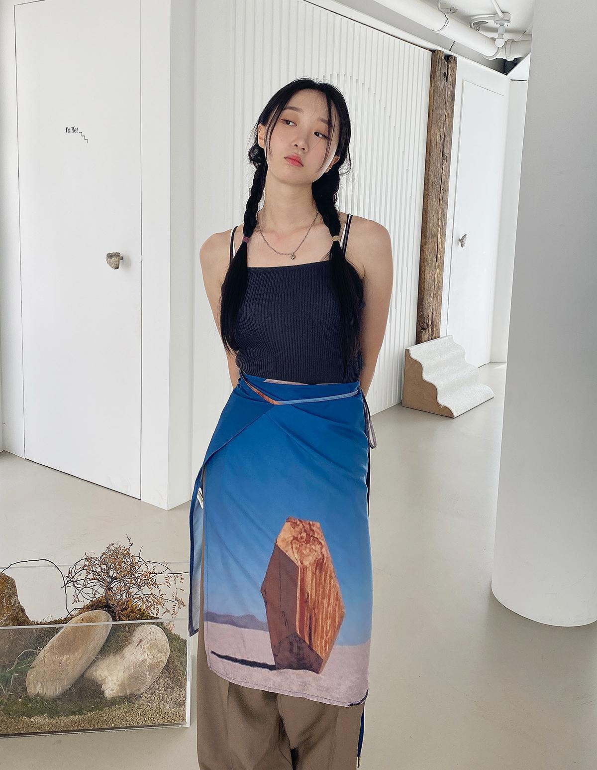 フレームラップスカート