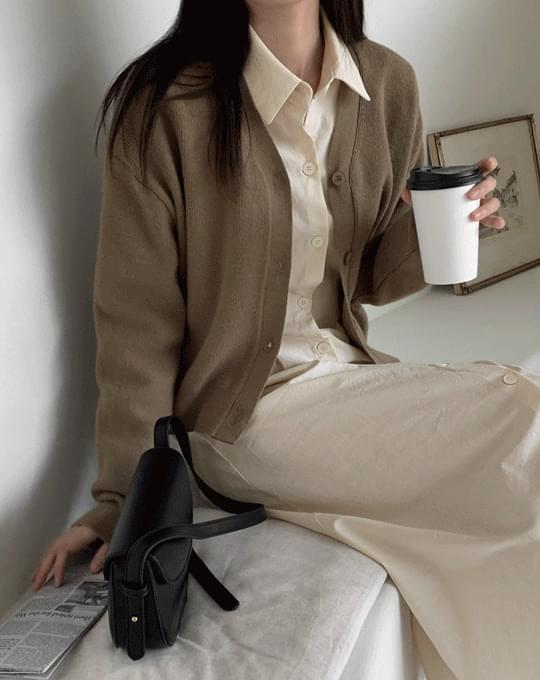 Sendy V-Neck Knitwear Cardigan - 4 color