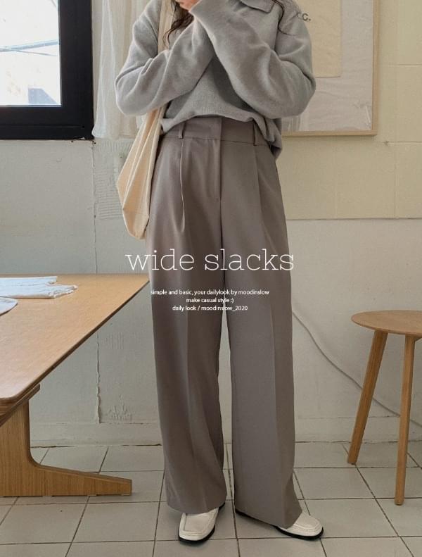 May wide pintucked slacks 長褲