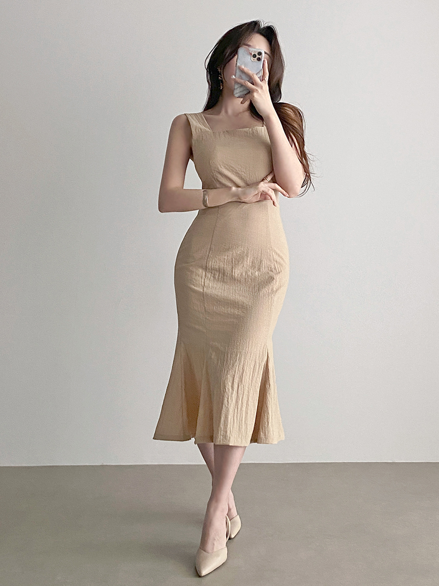 Slim Sleeveless Sleeveless Mermaid Dress 2color