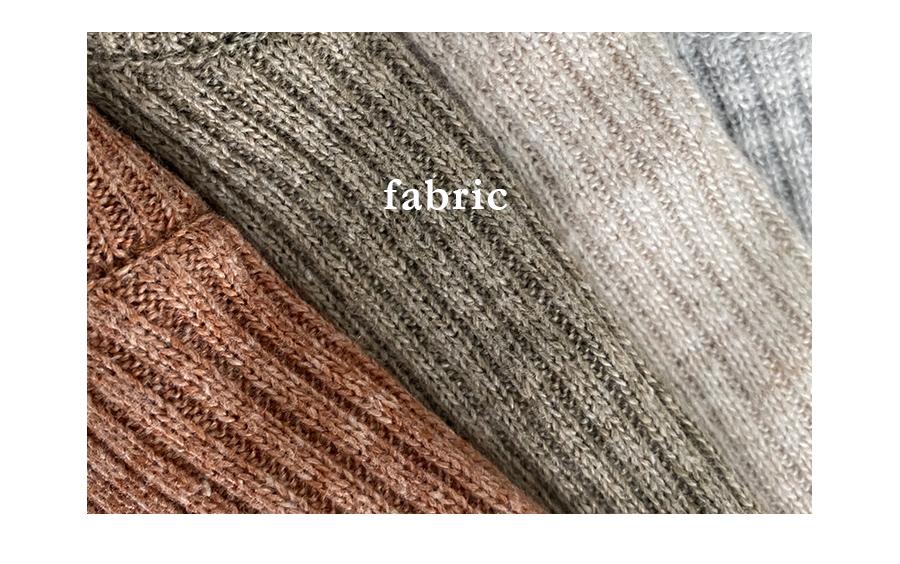 Bamboo Deco Ribbed yunek Knitwear