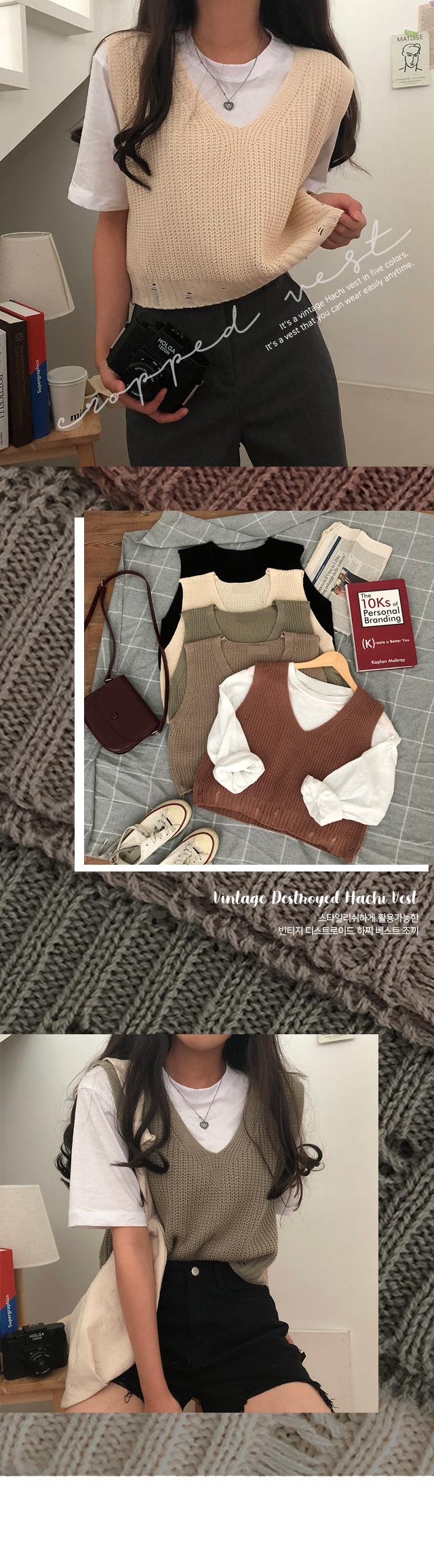Vintage Destroyed Hachi Vest