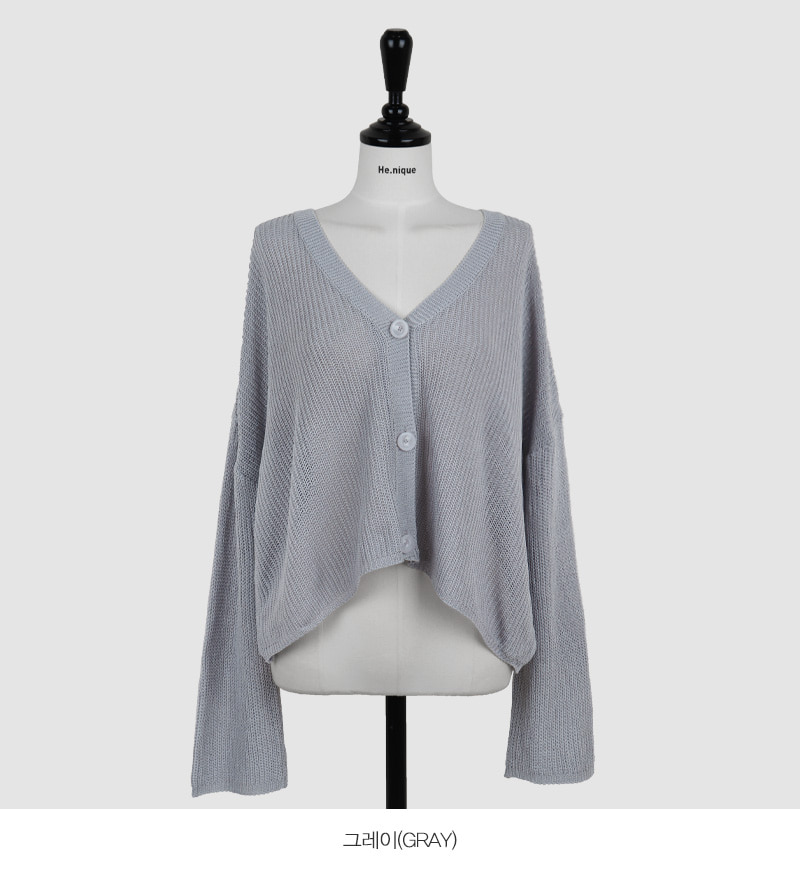 I'm Different V-Neck Loose-fit Knitwear Long Sleeve Cardigan