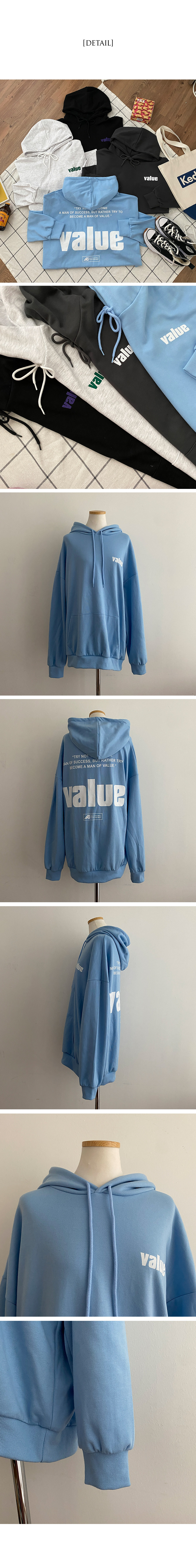 Value back print king overfit hood